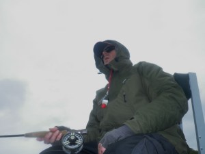Dealing with the elements is part of the pleasur eof Scottish Fly Fishing