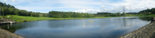 Panoramic view of Millhall fishery