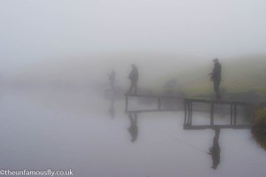 Anglers in the freezing fog