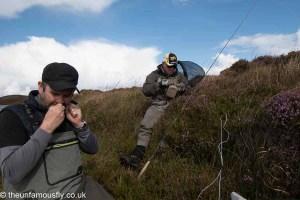 Tackling up lochside