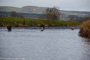 Busy spot on the River Annan