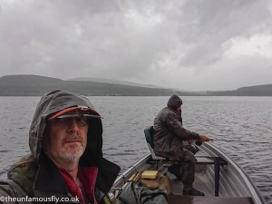 Wet fishing on Carron Valley