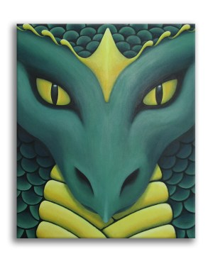 Kai Guardian Dragon Original Acrylic Painting