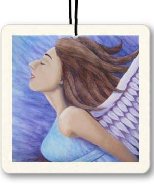 Air Freshener - Air Goddess Flying  - Air Freshener Of Angel Acrylic Paint And Watercolor Pencil Fine Art