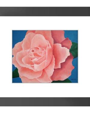 Framed Print - Every Rose - Framed Print Of Floral Acrylic Paint Fine Art