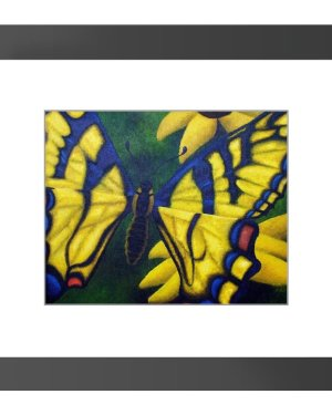 Framed Print - Transform And Be Free - Framed Print Of Acrylic Paint Butterfly Fine Art