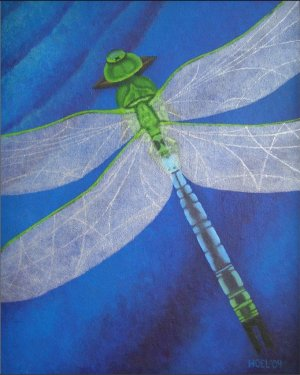 Giclee Print - Resilience - Dragonfly Giclee Print Of Acrylic Painting Fine Art
