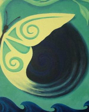 Poster - Transcendence - Poster Of Acrylic Paint Butterfly Fine Art