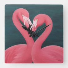 Flamingos Acrylic Clock