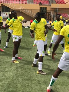 Plateau United players begin training ahead of  their CAFCC game against Simba.