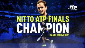Medvedev wins 2020 Nitto ATP Finals in London.