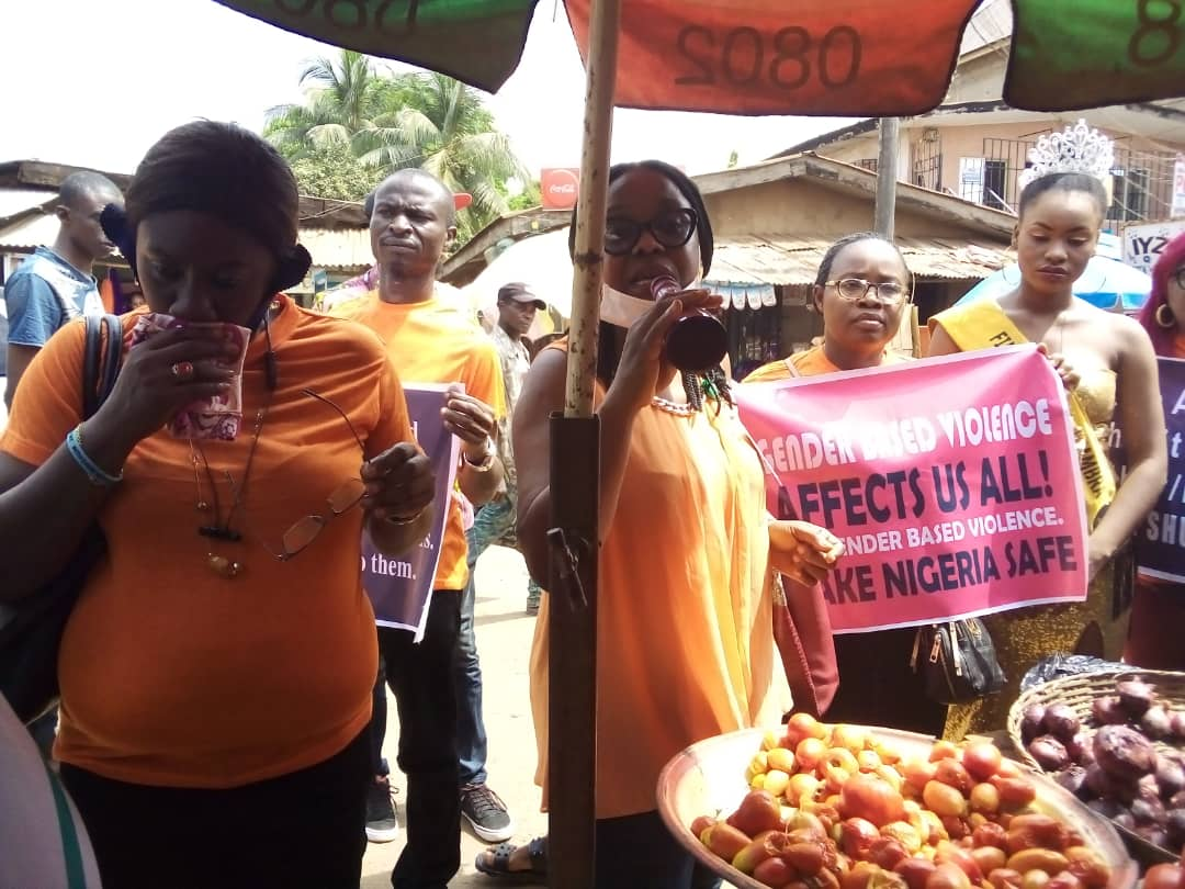 members of the NHRC during their rally in Awka, Anambra State.