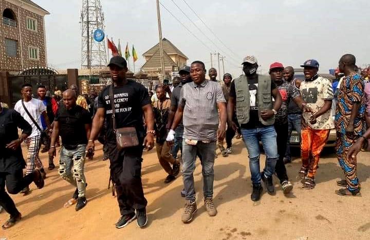 Sunday Igboho and his men storm Ogun State.
