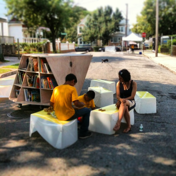 Uni brings reading to Jamaica Play Street.