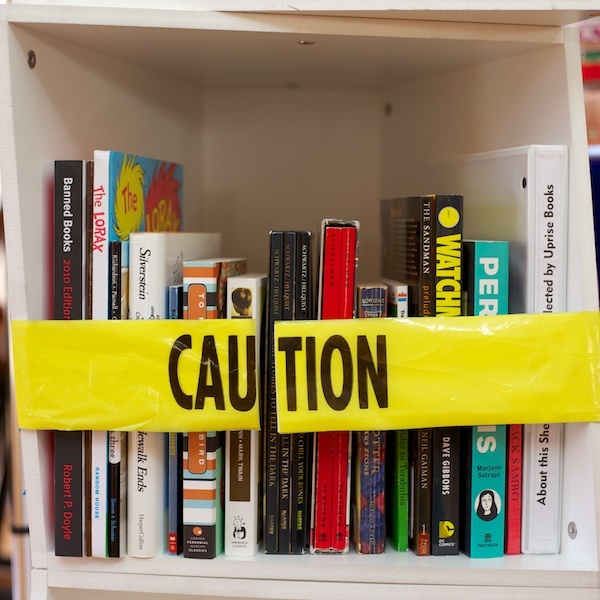 Collaboration with Uprise Books brings banned books to NYC streets
