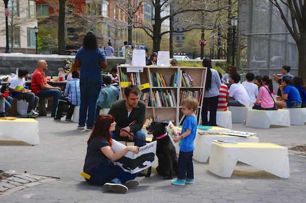 Uni Project joins National Book Foundation's BookUp kids in the park