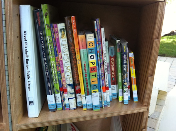 BPL shelf on the Greenway.