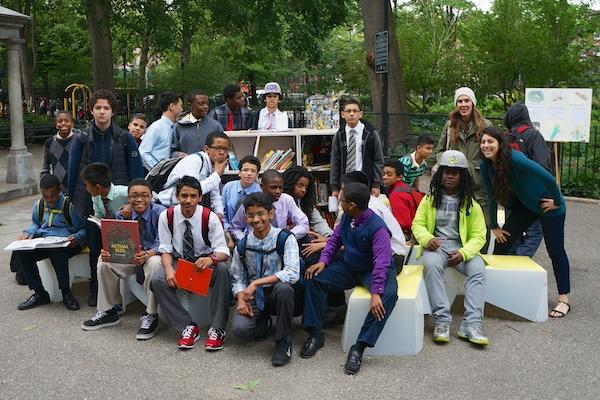 Boys take over the Uni in Tompkins Square Park