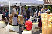 The Uni portable reading room at Diversity Plaza July 25, 2015.