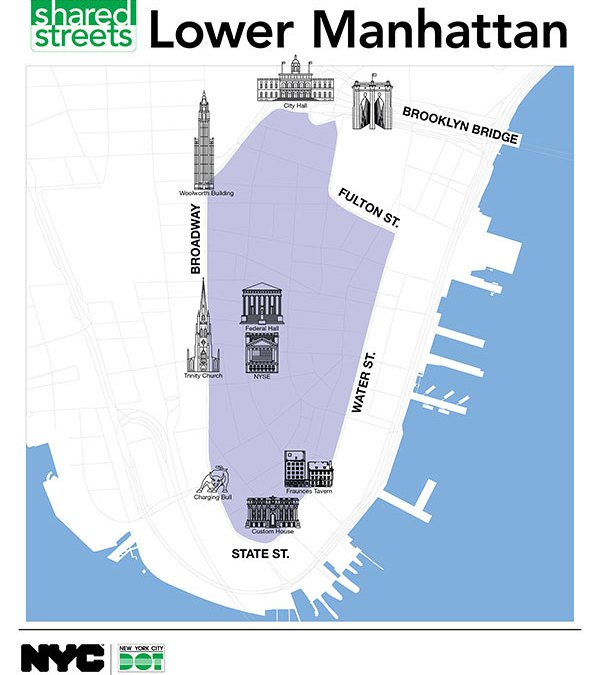 Catch the Uni in lower Manhattan at NYC DOT Shared Streets