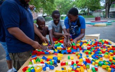 BUILD NYC back at Butler Houses play street in the Bronx