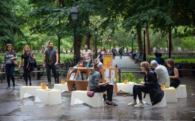 Wrapping up a residency in Washington Square Park