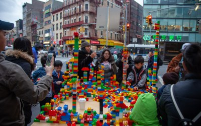 Building together on Doyers St in Chinatown