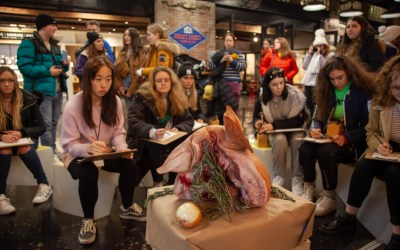 Creating a special still life for DRAW at Chelsea Market