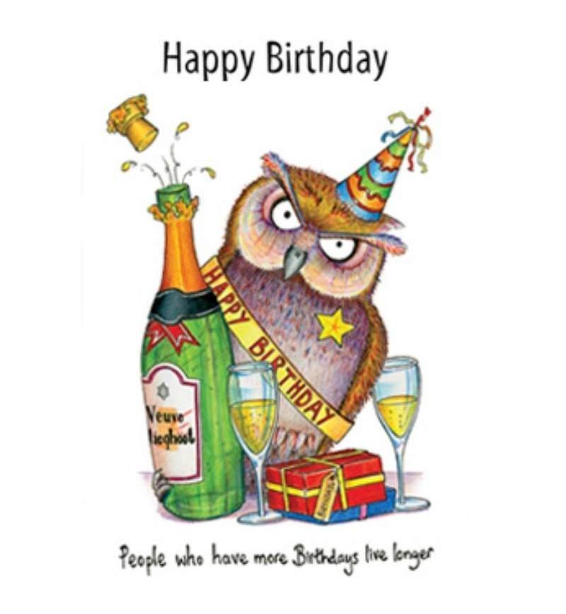 Owl Happy Birthday Greetings Card