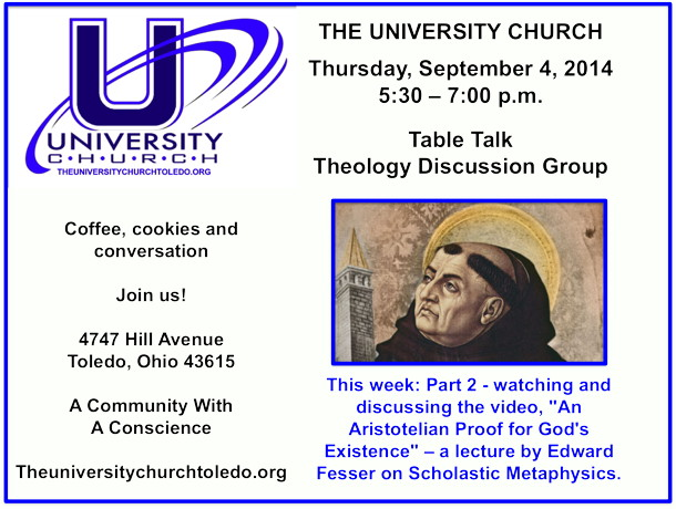 September 4 2014 theology group