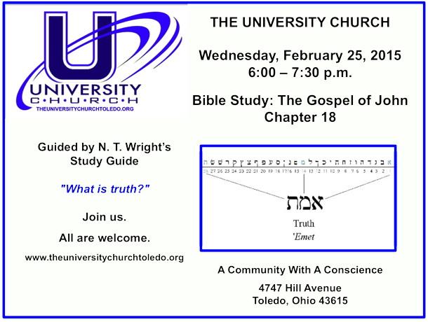 February 25 2015 Bible Study