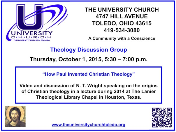 October 1 2015 theology group