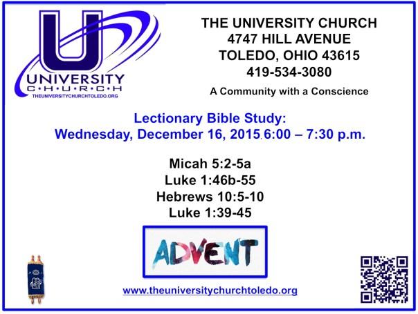 December 16 2015 Bible Study
