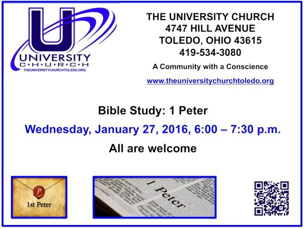 January 27 2016 Bible Study