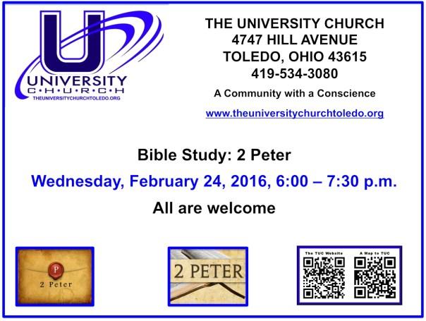 February  24 2016 Bible Study