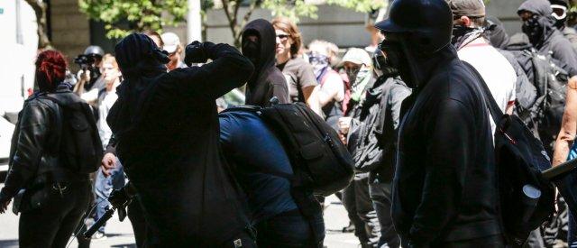 Masked Antifa Thugs Hospitalise