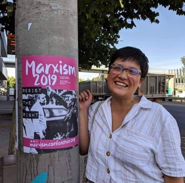 Marxists protest. Maddie Hah