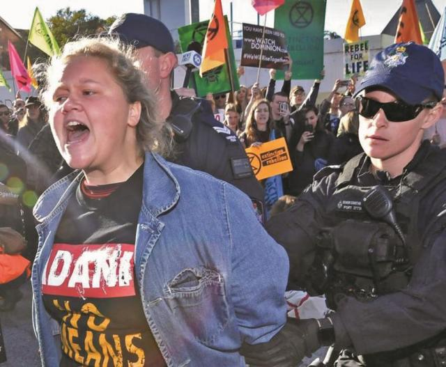 Marxist protests lead to arrests