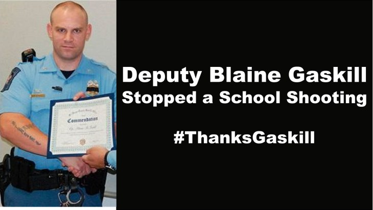 Deputy Blaine Gaskill Schoot Shooter Police