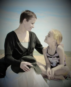My favorite person in the whole world and I at the beach. She's the awesomest!