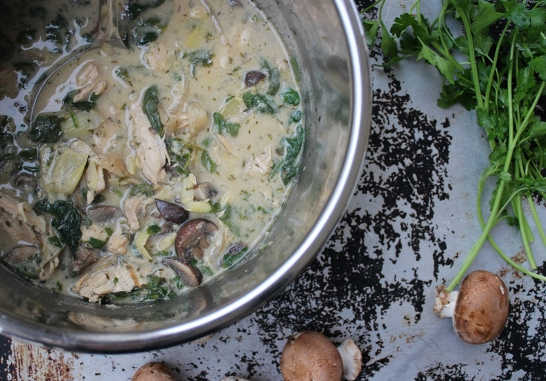 Instant Pot Creamy Artichoke Chicken Stew Whole 30 Aip The