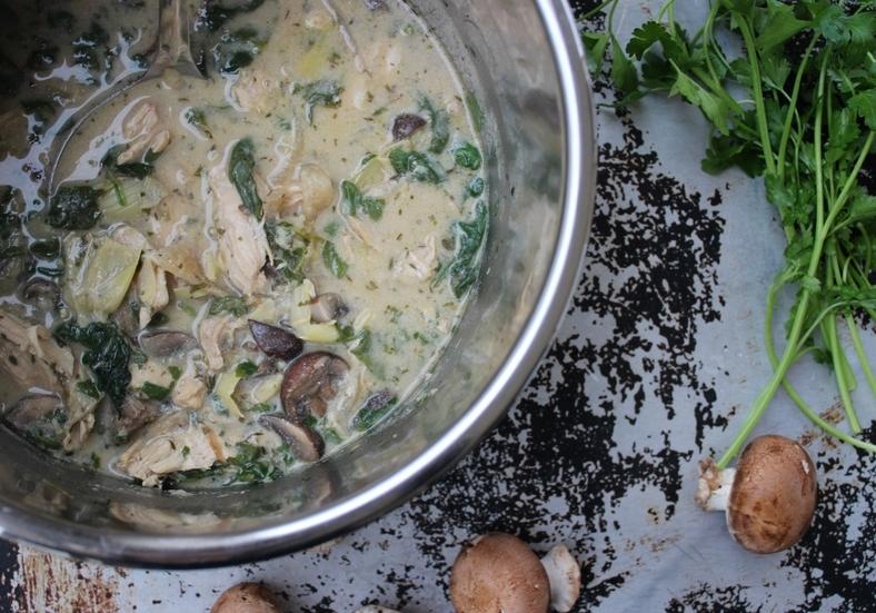 creamy artichoke chicken stew instant pot