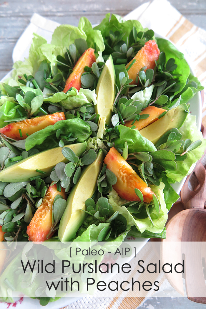 purslane peach salad AIP