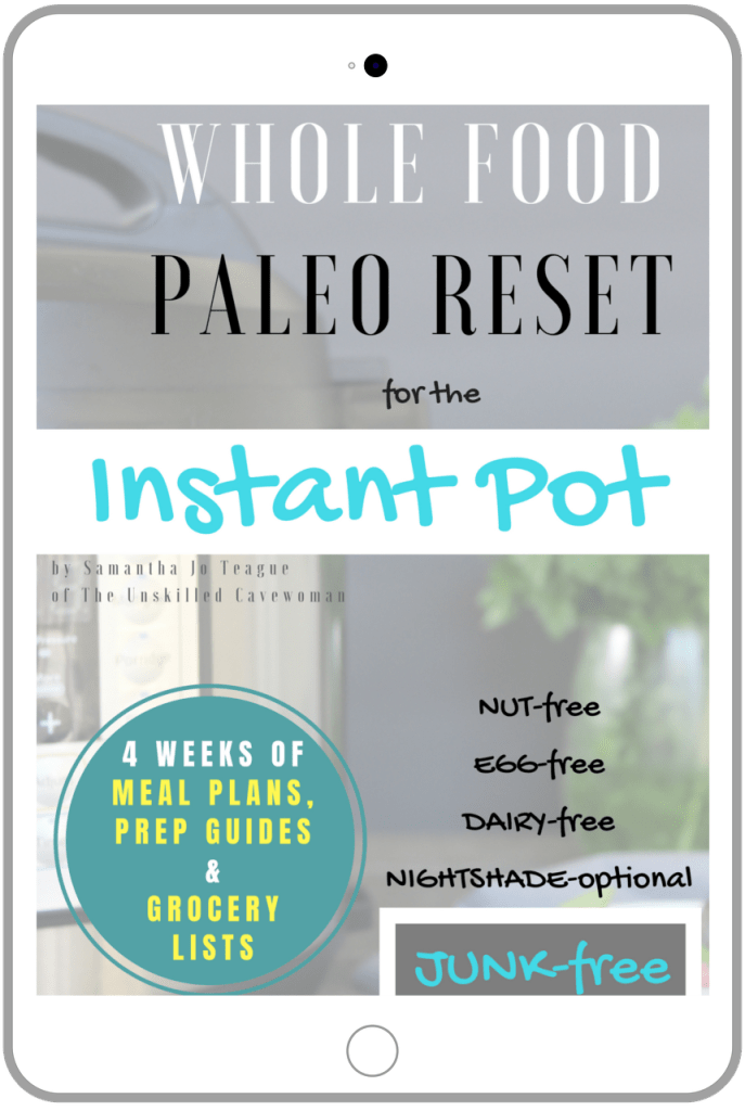 whol food paleo reset for the instant pot