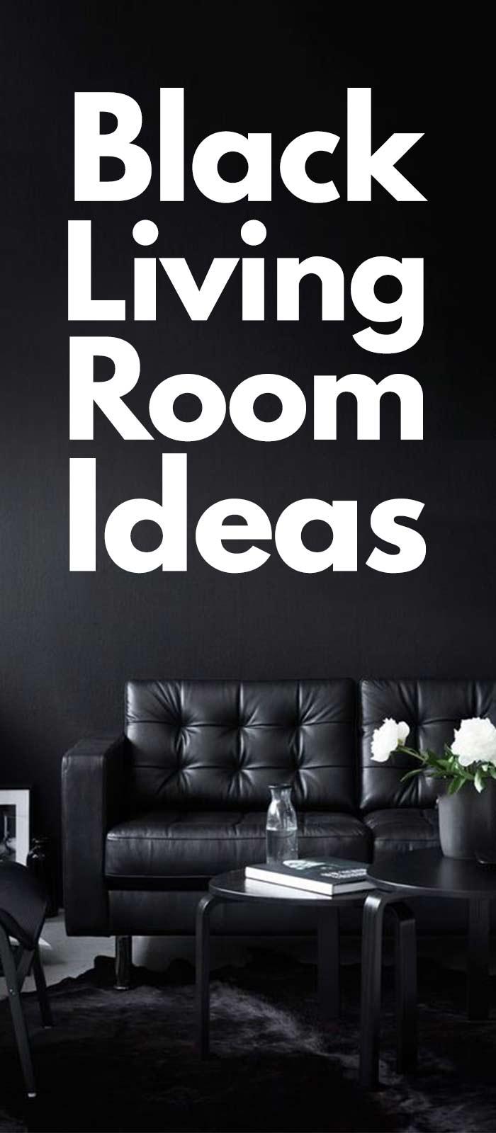 20+ Marvelous Black Living Room Ideas.