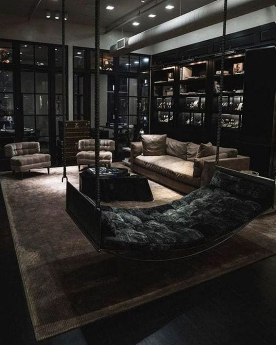 20+ Marvelous And Exotic Black Living Room Ideas