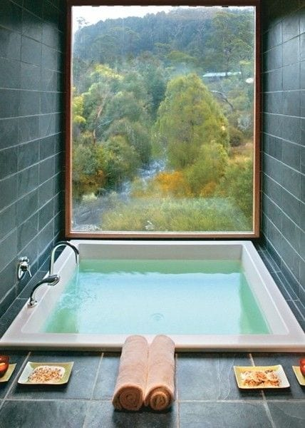 Bathtub with a view design ideas