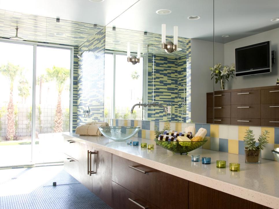 Colourful bathroom ideas