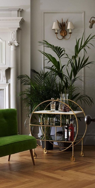 Gold moving modern home bar design ideas