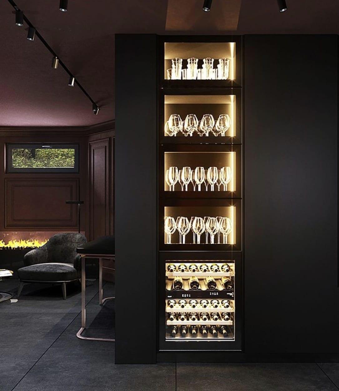 Lavish modern home bar design for luxurious house ideas